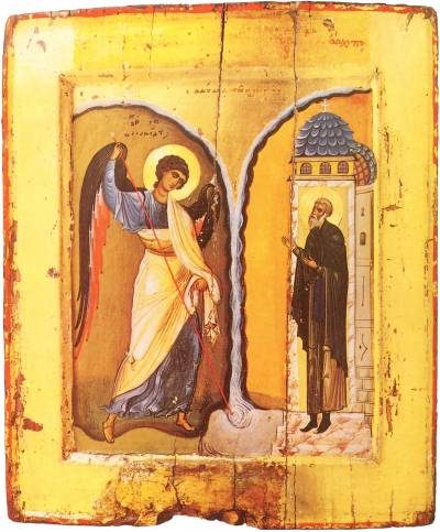 Miracle of the Archangel Michael at Chonae, XII century, Monastery of Saint Catherine, Sinai
