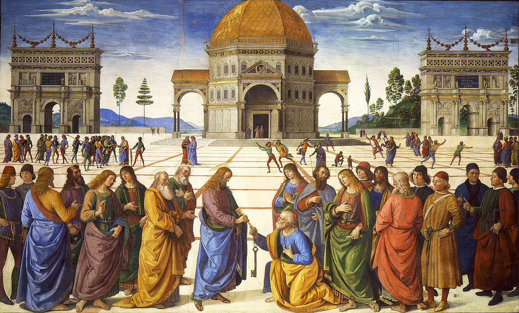 Perugino-Christ-Giving-the-Keys-to-Peter